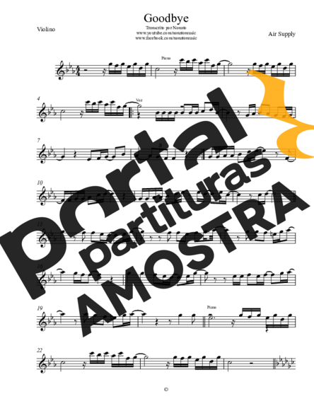 Air Supply Goodbye partitura para Violino
