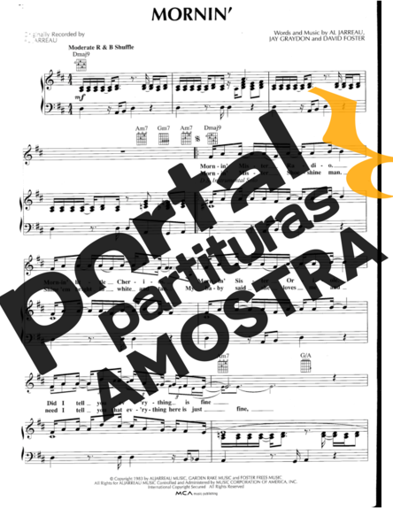 Al Jarreau Mornin´ partitura para Piano