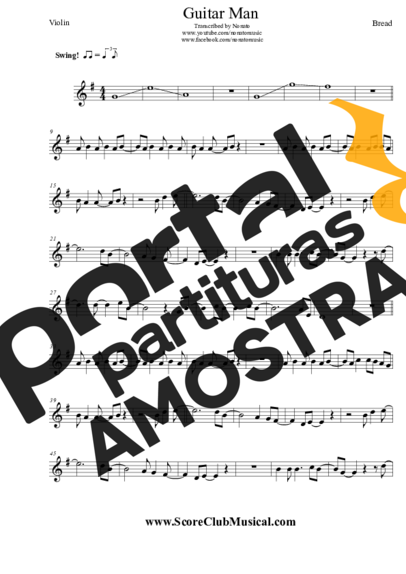 Bread Guitar Man partitura para Violino