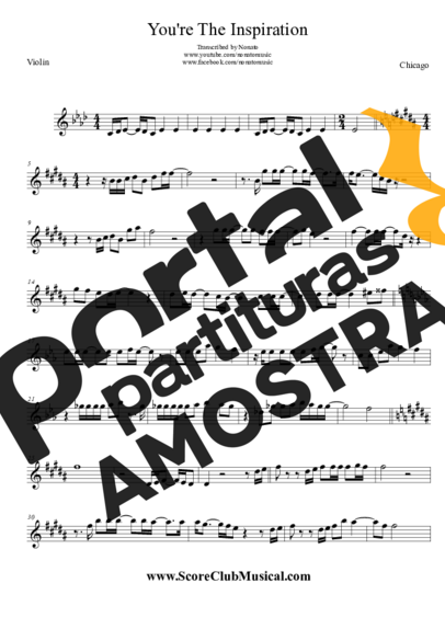 Chicago You're the Inspiration partitura para Violino