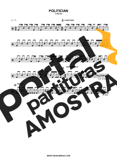 Cream Politician partitura para Bateria