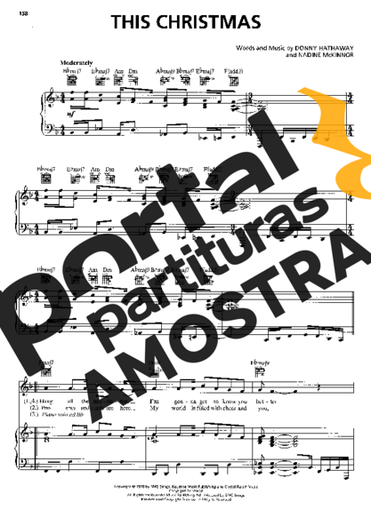 Donny Hathaway This Christmas partitura para Piano