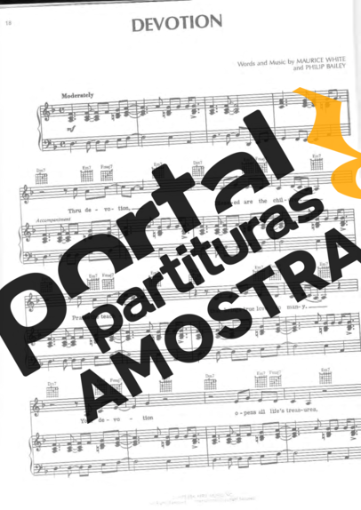 Earth Wind And Fire  partitura para Piano