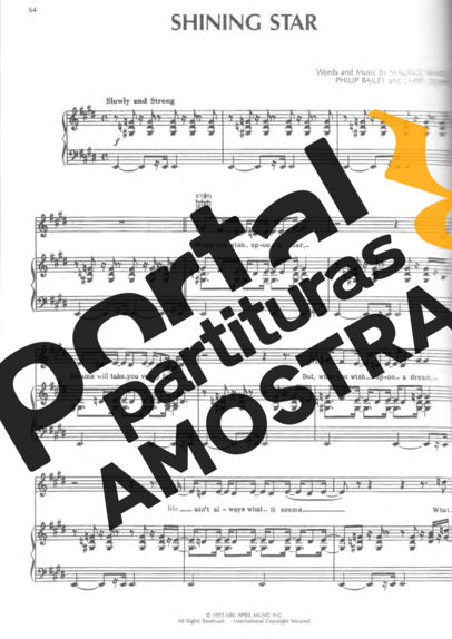 Earth Wind And Fire Shining Star partitura para Piano