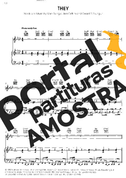 Jem Theys partitura para Piano