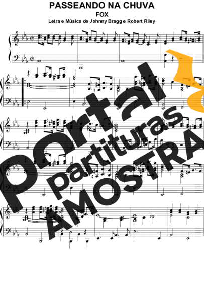 Johnny Bragg e Robert Riley  partitura para Piano