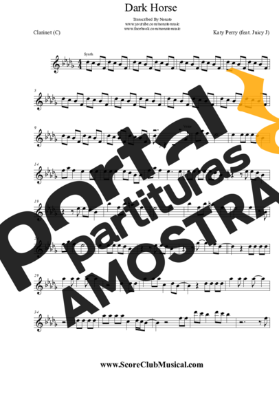 Katy Perry Dark Horse (feat. Juicy J) partitura para Clarinete (C)