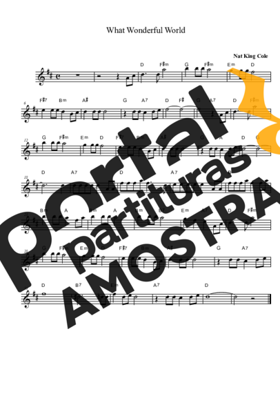 Louis Armstrong What Wonderful World partitura para Saxofone Alto (Eb)