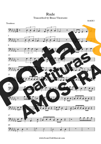 Magic Rude partitura para Trombone