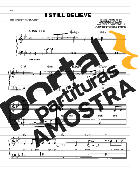 Mariah Carey I Still Believe partitura para Piano