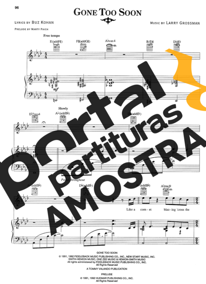 Michael Jackson Gone Too Soon partitura para Piano