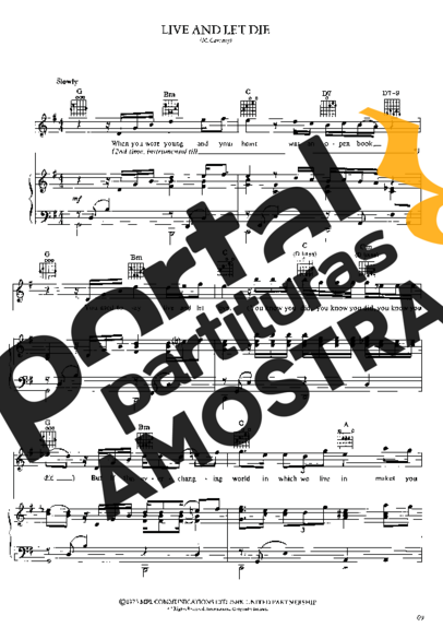 Paul McCartney Live And Let Die partitura para Piano