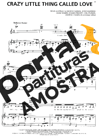 Rihanna Crazy Little Thing Called Love partitura para Piano