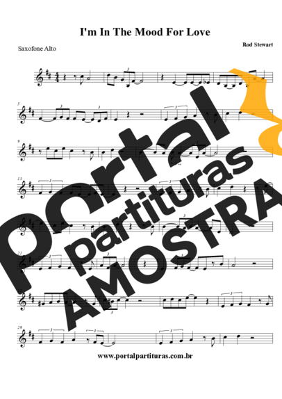 Rod Stewart I´m In The Mood For Love partitura para Saxofone Alto (Eb)