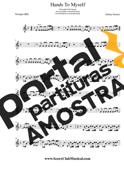 Selena Gomez Hands To Myself partitura para Trompete