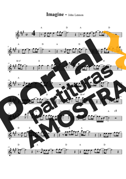 The Beatles Imagine partitura para Saxofone Alto (Eb)