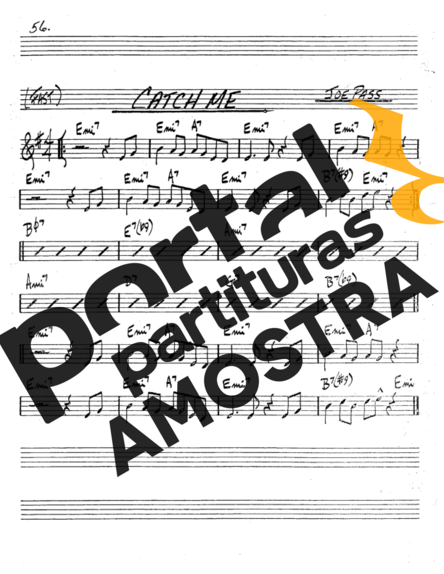 The Real Book of Jazz Catch Me partitura para Trompete