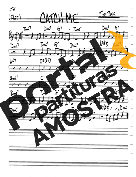 The Real Book of Jazz Catch Me partitura para Violino
