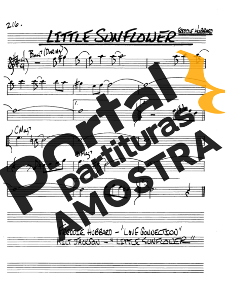 The Real Book of Jazz Little Sunflower partitura para Saxofone Alto (Eb)