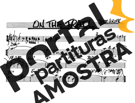 The Real Book of Jazz On The Trail partitura para Saxofone Alto (Eb)