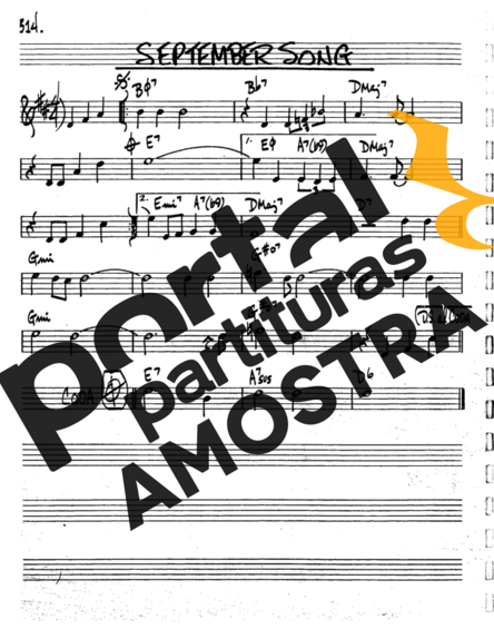 The Real Book of Jazz September Song partitura para Trompete