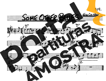 The Real Book of Jazz Some Other Blues partitura para Saxofone Alto (Eb)