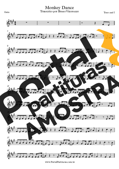 Tones and I Monkey Dance partitura para Gaita